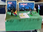 Diorama of Cricket-Australia