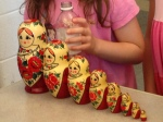 Stacking dolls in Russia